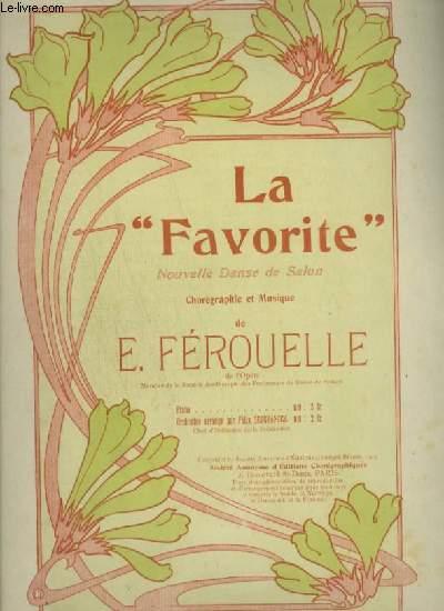 LA FAVORITE - NOUVELLE DANSE DE SALON POUR PIANO.