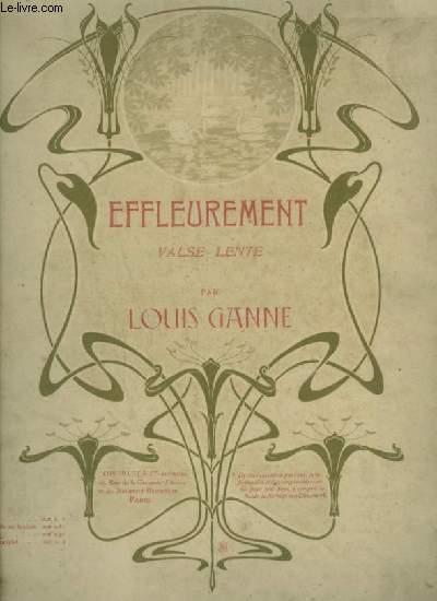 EFFLEUREMENT - VALSE LENTE POUR PIANO A 4 MAINS.