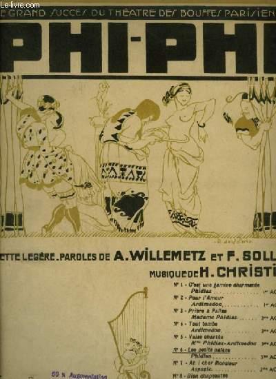 PHI PHI - N°6 : CHANSON DES PETITS PAÏENS - PIANO ET CHANT.