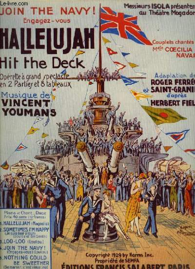 HALLELUJAH N°4 : JOIN THE NAVY ! / ENGAGEZ VOUS - PIANO + CHANT.
