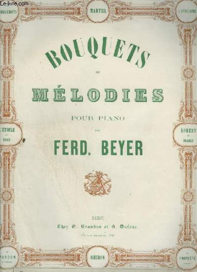 BOUQUET DE MELODIES POUR PIANO : L'AFRICAINE.