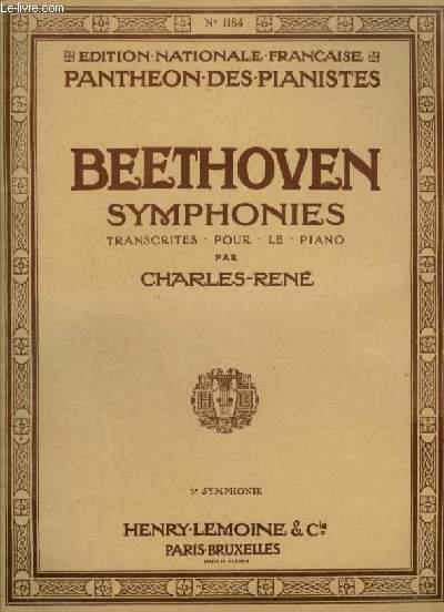 SYMPHONIES TRANSCRITES POUR LE PIANO.