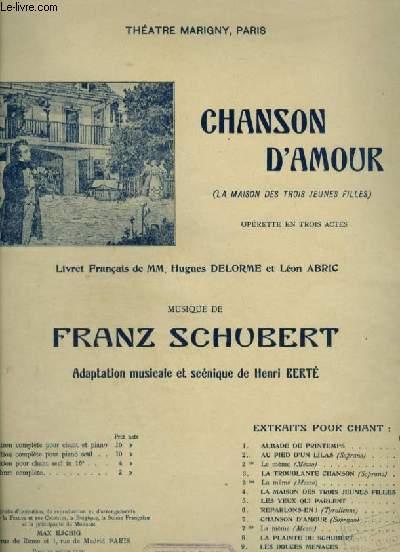 CHANSON D'AMOUR - N°10 : SERENADE POUR PIANO ET CHANT.