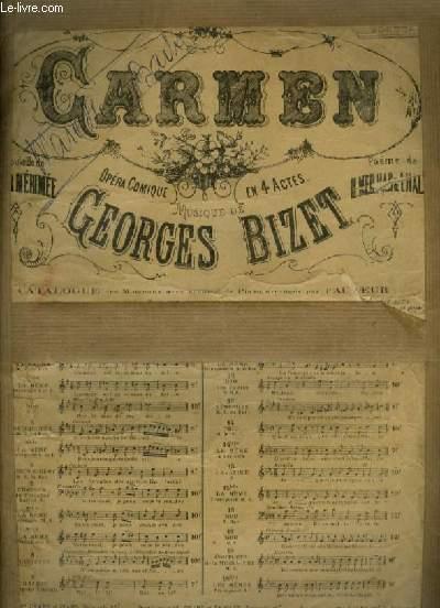 CARMEN - N°13 : AIR POUR PIANO ET CHANT (MICAËLA).