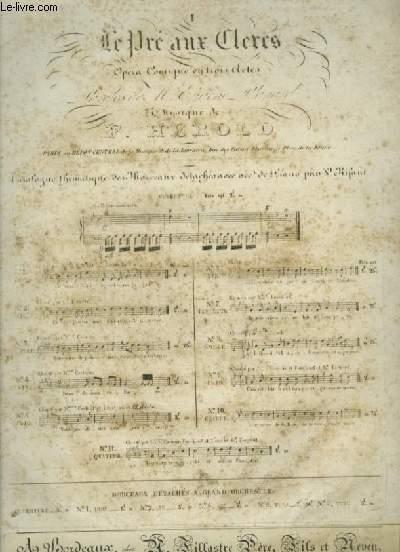LE PRE AUX CLERCS - N°1 : DUO POUR PIANO ET CHANT.