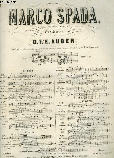 MARCO SPADA - N°1 BIS : CAVATINE POUR PIANO ET CHANT AVEC PAROLES.