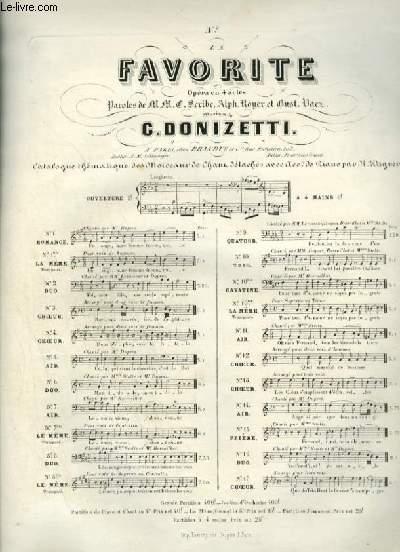 FAVORITE - N°11 : POUR PIANO ET CHANT AVEC PAROLES.