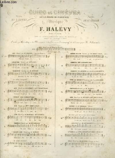 GUIDO ET CINEVRA OU LA PESTE DE FLORENCE - N°3 BIS : POUR PIANO ET CHANT AVEC PAROLES.