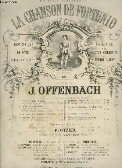 LA CHANSON DE FORTUNO - N°6 BIS : PIANO + CHANT TENOR OU SOPRANO.