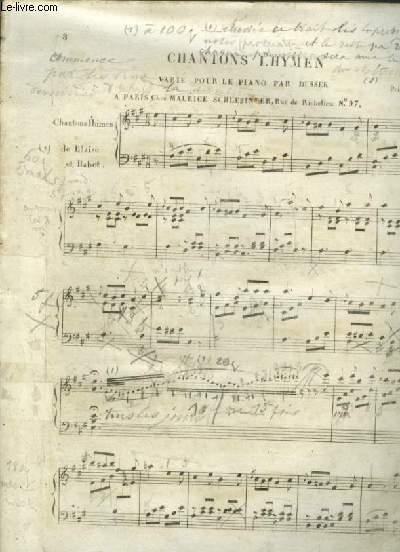 CHANTONS L'HYMEN - VARIE POUR LE PIANO.