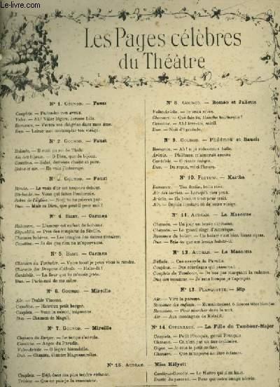 LES PAGES CELEBRES DU THEATRE - N°4 : L'AMOUR EST ENFANT DE BOHEME + PRES DES REMPARTS DE SEVILLE + LES TRINGLES DES SISTRES TINTAIENT + JE DIS QUE RIEN NE M'EPOUVANTE - PIANO ET CHANT.