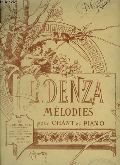 MELODIES POUR PIANO ET CHANT.