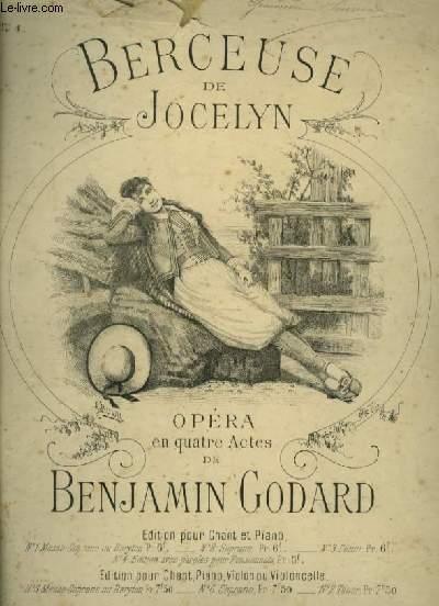 JOCELYN - BERCEUSE POUR PIANO ET CHANT MEZZO SOPRANO OU BARYTON AVEC PAROLES.