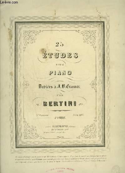 25 ETUDES POUR LE PIANO
