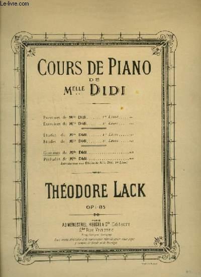 COURS DE PIANO DE MLLE DIDI - GAMMES DE MLLE DIDI : GAMMES MAJEURES + GAMMES MINEURS.