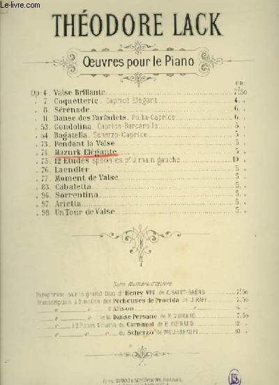 MAZURK ELEGANTE - PIANO.