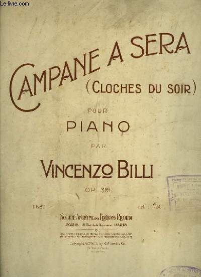 CAMPANE A SERA / CLOCHES DU SOIR - POUR PIANO.