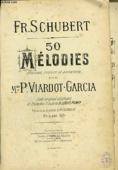 50 MELODIES - PIANO ET CHANT EN FRANCAIS / ALLEMAND.
