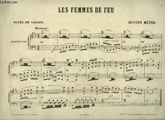 LES FEMMES DE FEU - SUITE DE VALSE POUR PIANO.