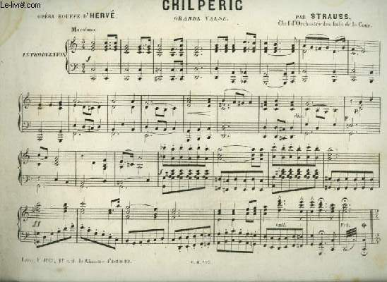 CHILPERIC - GRANDE VALSE POUR PIANO.