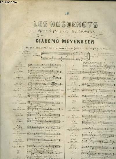 LES HUGUENOTS - N°2 BIS : PIANO ET CHANT (RAOUL).