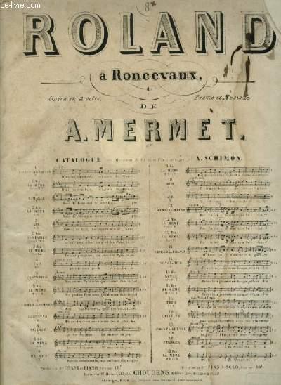 ROLAND A RONCEVAUX - N°8 BIS : BALLADE POUR PIANO ET CHANT (SAÏDA) AEC PAROLES.