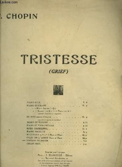 TRISTESSE - PIANO.