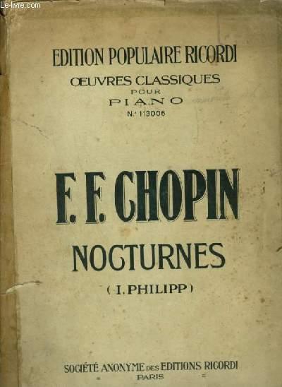 NOCTURNE  POUR PIANO - LIVRE 6 - OEUVRES CLASSIQUES POUR PIANO N°113006.