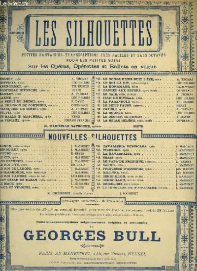 LES SILHOUETTES - N°26 : MANON POUR PIANO.