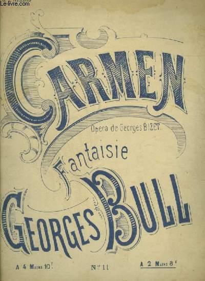 CARMEN - OPERA EN 4 ACTES DE GEORGES BIZET POUR PIANO A 2 MAINS.