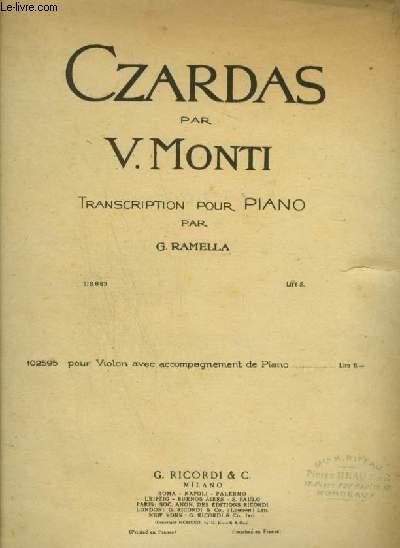 CZARDAS - POUR PIANO.
