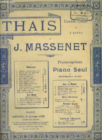 THAIS - N°1D : MEDITATION POUR PIANO ET VIOLON.