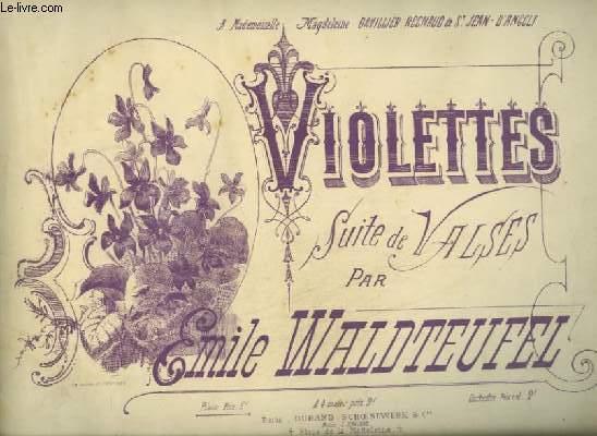 VIOLETTES - SUITE DE VALSES POUR PIANO.