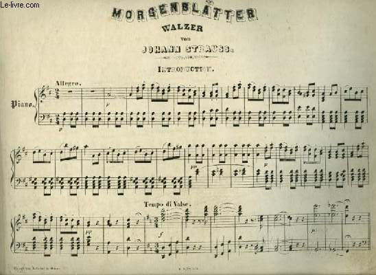 MORGENBLÄTTER - WALZER PIANO.