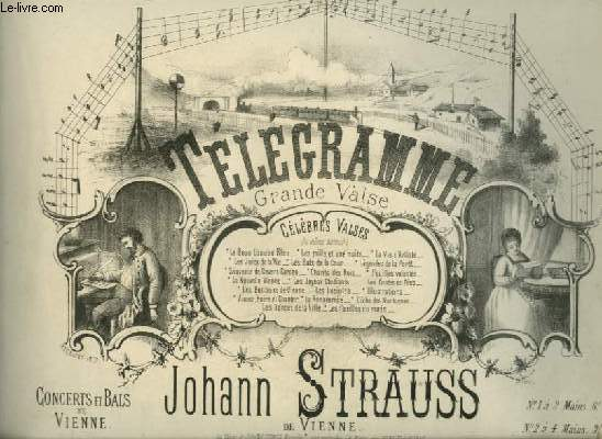 TELEGRAMME - GRANDE VALSE POUR PIANO.
