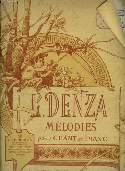 MELODIES POUR CHANT ET PIANO.