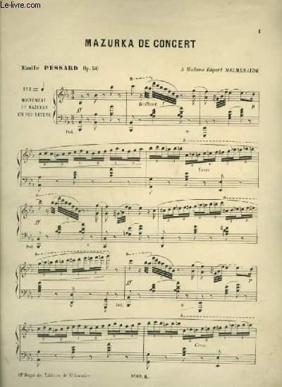 MAZURKA DE CONCERT - PIANO.