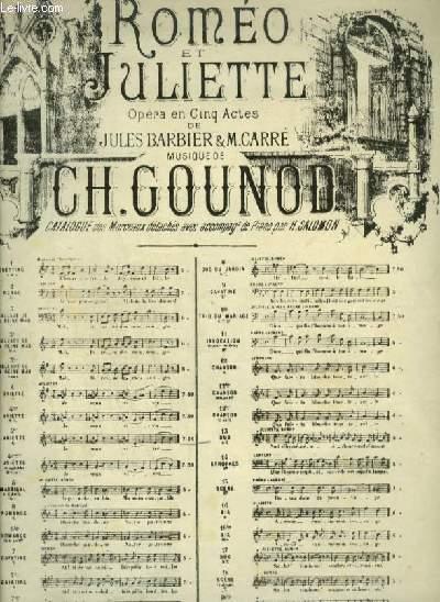 ROMEO ET JULIETTE -  N°4 TER : ARIETTE POUR PIANO ET CHANT AVEC PAROLES.