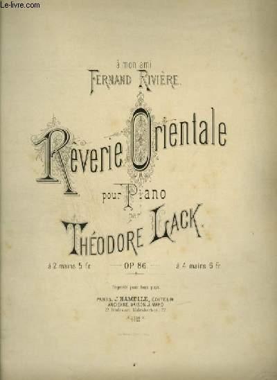 REVERIE ORIENTALE - POUR PIANO.