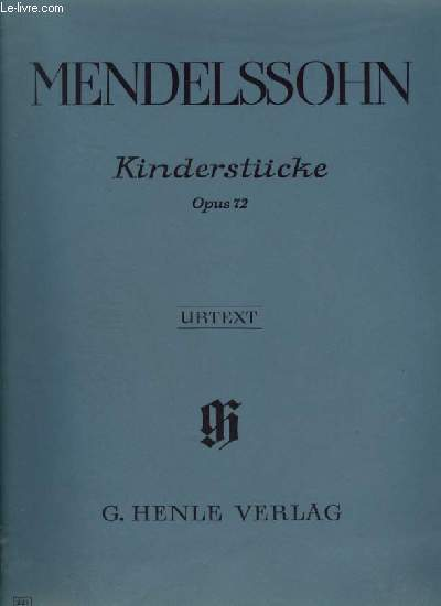 KINDERSTÜCKE - OPUS 72.