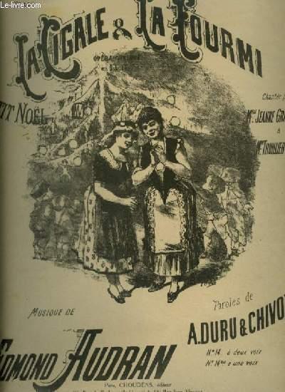 LA CIGALE & LA FOURMI - N°14 BIS : PETIT NOEL POUR PIANO ET CHANT A 1 VOIX.
