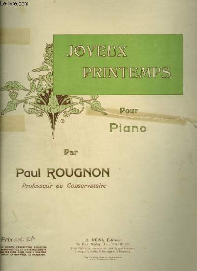 JOYEUX PRINTEMPS - POUR PIANO.