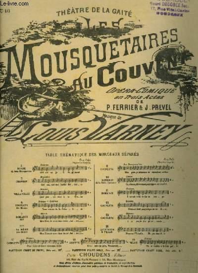 LES MOUSQUETAIRES AU COUVENT - N°10 : PIANO ET CHANT.