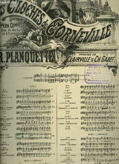 LES CLOCHES DE CORNEVILLE - N°3 BIS : COUPLETS DU MOUSSE POUR PIANO ET CHANT (GRENICHEUX) AVEC PAROLES.