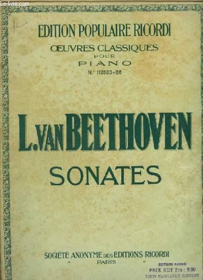 SONATES - VOLUME 1 : DE 1 A 7 - N°112583 POUR PIANO.