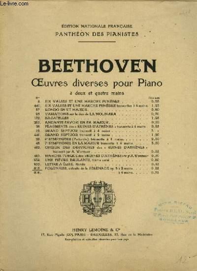 POLONAISE - SERENADE POUR PIANO OP.8.