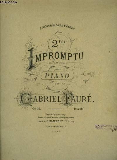 2° IMPROMPTU EN FA MINEUR POUR PIANO.