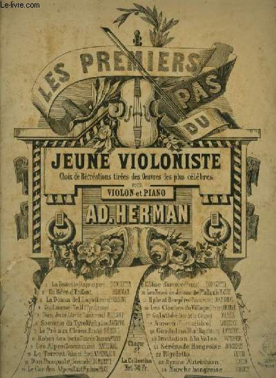LES PREMIER PAS DU JEUNE VIOLONISTE - N°7 : LE PRE AUX CLERCS - POUR VIOLON + PIANO.