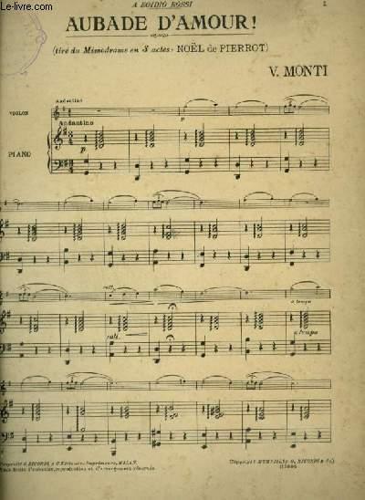 AUBADE D'AMOUR - PIANO ET CHANT.