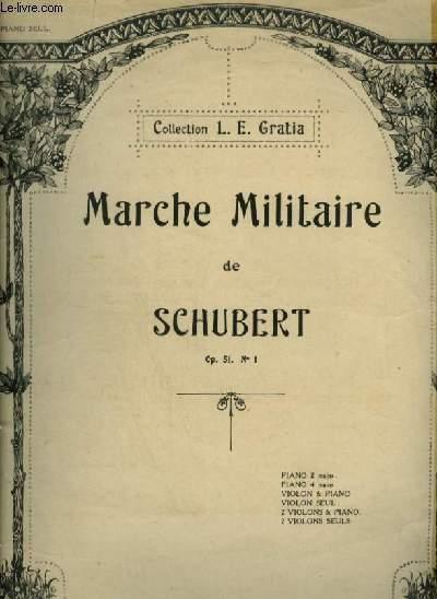 MANCHE MILITAIRE - OP.51 N°1 POUR PIANO A 2 MAINS.